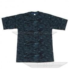 Камуфляжная футболка Синяя цифра