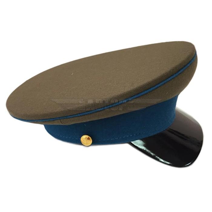Фуражка ВОВ ВВС РККА цвет хаки с голубыми кантами и околом