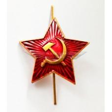 Красная звезда на головной убор для рядового состава РККА образца 1936 года СССР