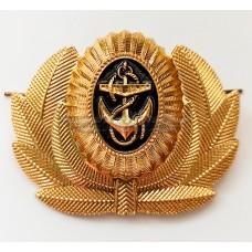 Кокарда мичманов ВМФ металл на фуражку Военно-Морского флота