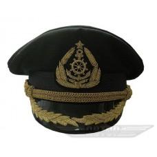 Яхтсменка черная с ручной вышивкой