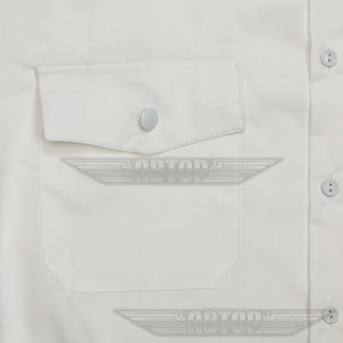 Рубашка белая форменная с коротким рукавом