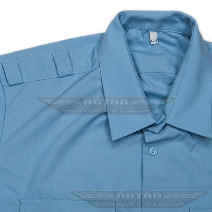 Рубашка форменная голубая с длинным рукавом