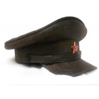 Кожаная фуражка НКВД