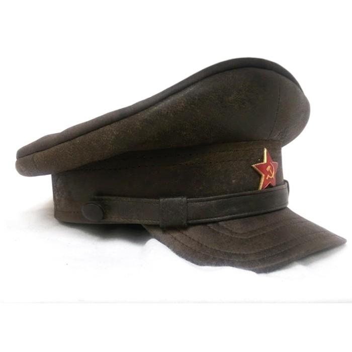 Кожаная фуражка НКВД образца 30-40 годов