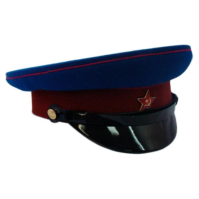 Фуражка НКВД васильковая тулья и краповый окол (цена без фурнитуры)