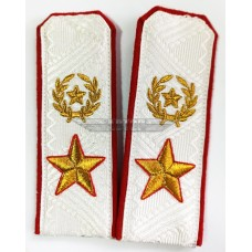 Погоны Маршала СССР белый галун, 081