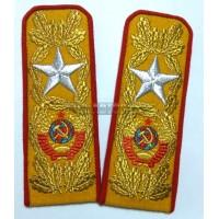 Погоны СССР, машинная вышивка, 039