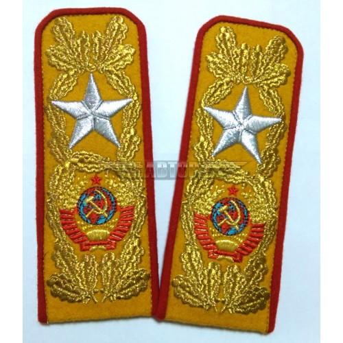 Погоны Маршала СССР, машинная вышивка