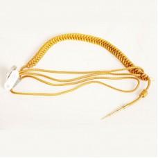 Аксельбант желтый с люрексом, 1 наконечник