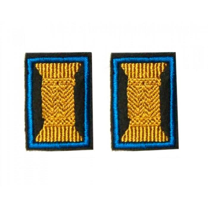 Петлицы нового образца офицерские (катушка)
