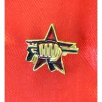Нагрудный знак «Спецназ» (звезда, кулак с автоматом)